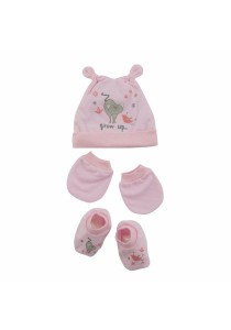 FIFFY Baby Bonnet Set (Pink)