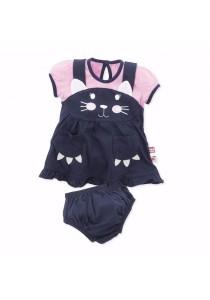 Fiffy Baby Dress for Newborn (Blue)