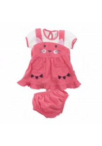 Fiffy Baby Dress for Newborn (Pink)