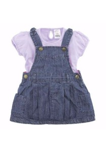 FIFFY Denim Overall Dress (Purple)