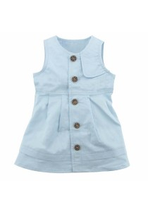 FIFFY Baby Sleeveless Girl Dress (Blue)