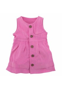 FIFFY Baby Sleeveless Girl Dress (Pink)