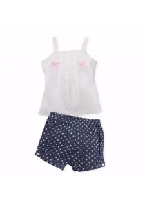 FIFFY Baby Girl Bowknot Vest Suit (Blue)