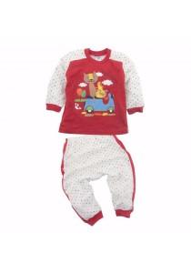 FIFFY Polka Dot Long Sleeve Pyjama Suit (Red)