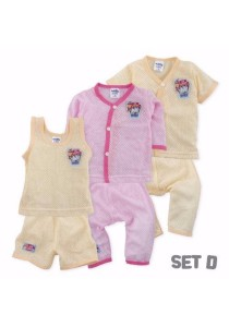 FIFFY 3 in 1 Eyelet Baby Suit (Set D)
