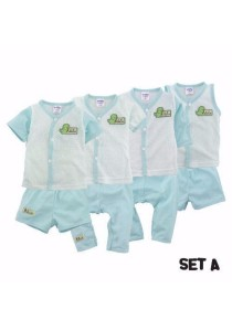 FIFFY 4 in 1 Eyelet Baby Suit (Set A)
