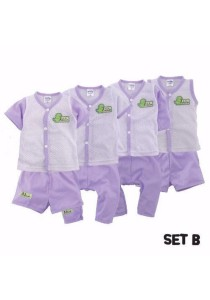 FIFFY 4 in 1 Eyelet Baby Suit (Set B)