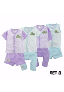 FIFFY 4 in 1 Eyelet Baby Suit (Set D)