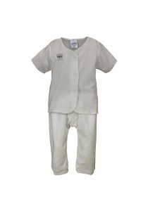 FIFFY Short Sleeve Vest Suit (White)