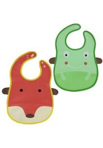 PVC Baby Bib (Wipe-clean Quality) - BB04 (Fox-Frog)