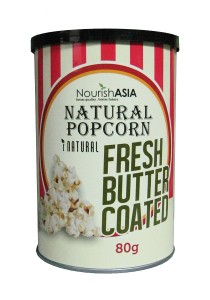 Pack of 6 Nourish Asia I-Natural Butter Popcorn
