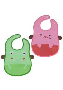 PVC Baby Bib (Wipe-clean Quality) - BB04 (Mouse-Frog)