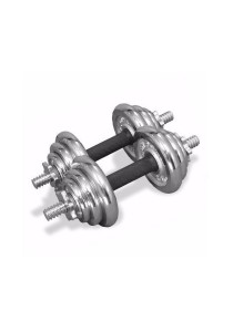 Fitness Gym 20KG Chrome Dumbbell And Barbell Combo Set