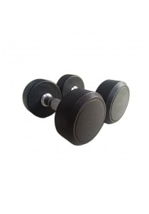 Fitness Gym Rubber-Coated Round Fix Dumbbell 17.5KG (2 units)