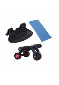Fitness Gym 3 Wheel AB Roller With Knee Pad And Stop Pad