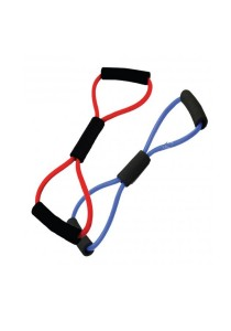 Fitness And Gym Muscle Rope Resistance Band with 2 (Random Colour)