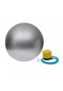 Fitness Gym Ball Anti Burst With Pump (65cm) Silver