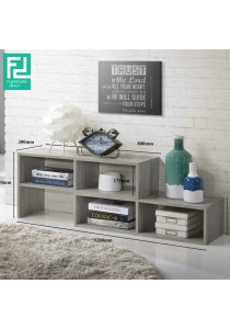Furniture Direct Flexi Extendable Multipurpose TV Cabinet Display Shelf