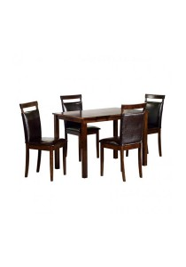 Furniture Direct Jolly 4 Seater Solid Rubberwood Dining Set