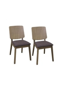 1 Pair of Denmark Cushion Seat Dining Chair