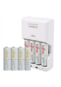 Fujitsu Basic Charger 4pcs Battery with 4pcs 2000mah Rechargeable Battery FOC Light Sensation Ticket