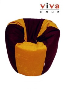 Fun Bean Bag - Yellow / Brown