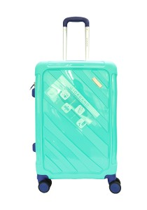 Giordano GA9501 -24 Inch Unbreakable PP Hard Case Trolley (Green)