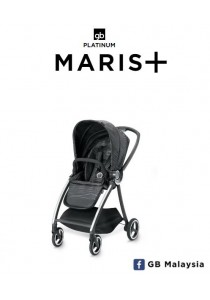 gb MARIS Plus (Lux Black) - LUXURIOS TRAVEL SYSTEM Stroller (gb Malaysia Official)