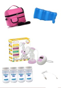 Autumnz Bliss Convertible Double Electric/Manual Breast Pump Package