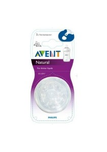 Avent Natural Think Feed (Y Slot) Teats Twin Pack
