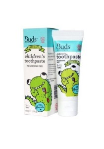 Buds Oralcare Organics - Children's Toothpaste With Fluoride 50ml (Green Apple)