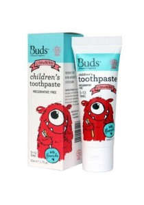 Buds Oralcare Organics - Children's Toothpaste With Fluoride 50ml (Strawberry)