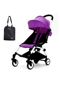 Aldo Compatto Stroller New Version (with Bumper Bar & Cup Holder) - Purple