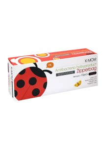K-Mom Anti bacterial Zipperbags - Ladybugs (S)