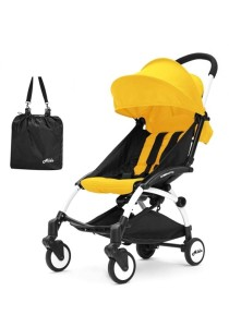 Aldo Compatto Stroller New Version (with Bumper Bar & Cup Holder) - Yellow