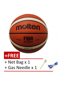 [100% Original] Molten GG7X FIBA Approved Composite Leather Basketball Free Gas Inflator and Net Bag