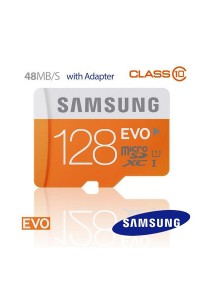 Samsung MicroSDXC Class 10 128GB EVO Memory Card with Adapter