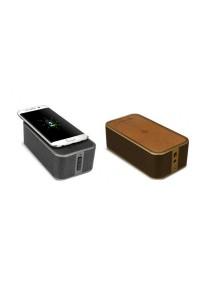 iTech 2-in-1 PowerBrick Bluetooth Wireless Speaker QI Wireless Charger
