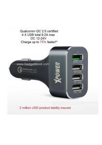 Xpower XP-CC4Q Qualcomn QC2.0 Quick Charge Quad 4 USB Port Car Charger