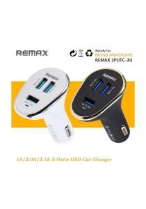 Remax 3 Tri USB Port Fast Rapid Car Charger Adapter 3 USB ports 6.3A
