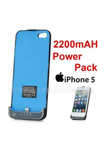 iPhone 5 2200mAh Portable External Power Pack Back Pack Bank Extended
