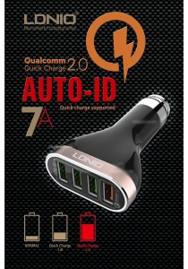 LDNIO C701Q Qualcomm Quick Charge QC 2.0 QUAD 4 Port 7A Car Charger
