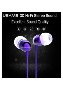 USAMS EP-8 1.2M Bullet 3.5mm In-ear Stereo Wired Earphone EarBuds