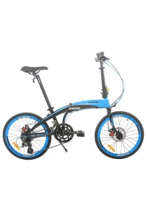 "Gammax GM2023-BC 20"" Alloy Folding Bike with Shimano Altus 16-Speed Gear (Blue)"