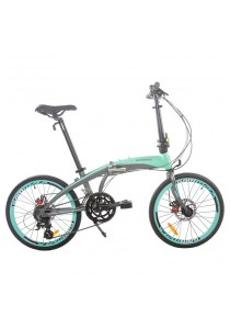 "Gammax GM2023-BC 20"" Alloy Folding Bike with Shimano Altus 16-Speed Gear (Turquoise)"