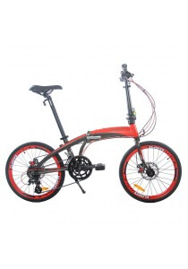 "Gammax GM2023-BC 20"" Alloy Folding Bike with Shimano Altus 16-Speed Gear (Red)"