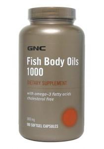 Fish Body Oil 1000mg Chl-Free 180 Softgel Caps