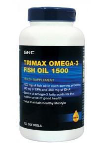 GNC Trimax Omega 3 Fish Oil 1500 120 Softgel Caps