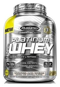 Muscletech Essential Series Platinum 100% Whey Vanilla Cake 5LBS
