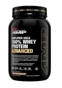 GNC PP Amplified Gold 100% Whey Protein Adv Double Rich Choc 5.12lbs